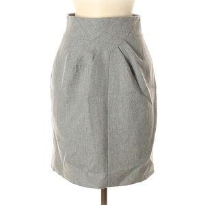 Robert Rodriguez Light Gray Wool Skirt